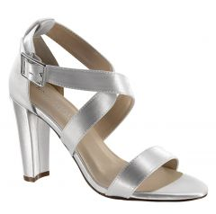Colbie White Satin Open Toe Womens Bridal Sandals - Shoes from Dyeables by Benjamin Walk