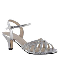 Amara Silver Glitter Open Toe Womens Prom Sandals - Shoes from Touch Ups by Benjamin Walk