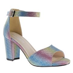 Amaya Rainbow Glitter Open Toe Womens Evening / Prom Sandals - Shoes from Touch Ups by Benjamin Walk