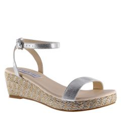 Bailey Silver Shimmer Open Toe Womens Destination / Prom Platform / Sandals - Shoes from Touch Ups by Benjamin Walk