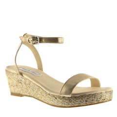 Bailey Nude Shimmer Open Toe Womens Destination / Evening / Prom Platform / Sandals - Shoes from Touch Ups by Benjamin Walk