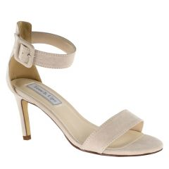 Brenda Beige Imit. Suede Open Toe Womens Evening / Prom Sandals - Shoes from Touch Ups by Benjamin Walk