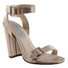 Calista Nude Shimmer Open Toe Womens Evening / Prom Sandals - Shoes from Touch Ups by Benjamin Walk
