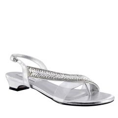 Eleanor Silver Metallic Open Toe Womens Destination / Prom Sandals - Shoes from Touch Ups by Benjamin Walk