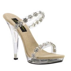 Fiore Clear Vinyl Open Toe Womens Evening / Prom Sandals - Shoes from Johnathan Kayne by Benjamin Walk