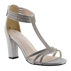Gabriella Silver Shimmer Open Toe Womens Prom Sandals - Shoes from Touch Ups by Benjamin Walk