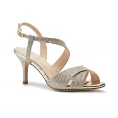 Hogan Champagne Glitter Open Toe Womens Evening / Prom Sandals - Shoes by Paradox London