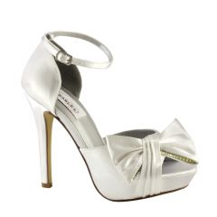 Jay White Satin Open Toe Womens Bridal Sandals - Shoes from Dyeables by Dyeables