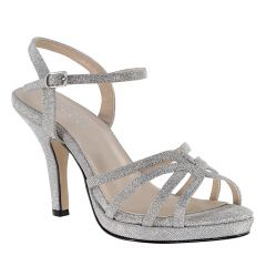 Mae Silver Glitter Open Toe Womens Prom Sandals - Shoes from Touch Ups by Benjamin Walk
