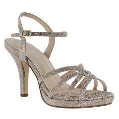 Mae Champagne Glitter Open Toe Womens Evening / Prom Sandals - Shoes from Touch Ups by Benjamin Walk