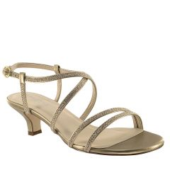 Maisie Champagne Shimmer Open Toe Womens Evening / Prom Sandals - Shoes from Touch Ups by Benjamin Walk