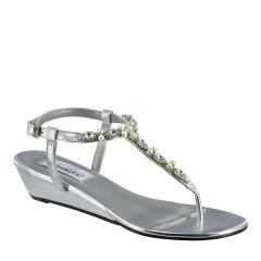 Myra Silver Metallic Open Toe Womens Destination / Prom Sandals - Shoes from Dyeables by Dyeables