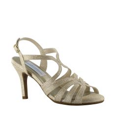 Paisley Champagne Sparkle Open Toe Womens Evening / Prom Sandals - Shoes from Dyeables by Dyeables