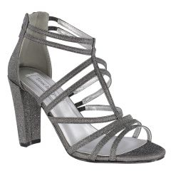Rhyan Pewter Glitter Open Toe Womens Evening / Prom Sandals - Shoes from Touch Ups by Benjamin Walk