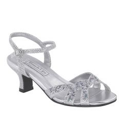 Scout Silver Glitter Open Toe Children's Prom Sandals - Shoes from Touch Ups by Benjamin Walk