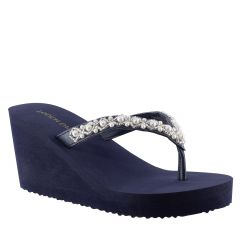 Shelly Navy EVA Open Toe Womens Destination / Evening / Prom Platform / Sandals - Shoes from Touch Ups by Benjamin Walk