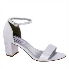 Summer White Satin/Lace Open Toe Womens Bridal Sandals - Shoes from Dyeables by Dyeables