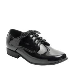 Zac Black Patent Closed toe Boys Evening Pumps - Shoes from Dr. Tuxedo by Benjamin Walk